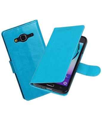 Turquoise Portemonnee booktype Hoesje voor Samsung Galaxy J3 2016
