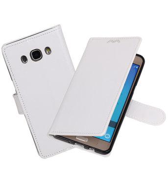 Wit Portemonnee booktype Hoesje voor Samsung Galaxy J7 2016
