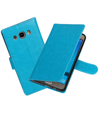 Turquoise Portemonnee booktype hoesje Samsung Galaxy J7 2016