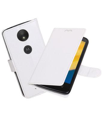 Wit Portemonnee booktype Hoesje voor Motorola Moto C Plus
