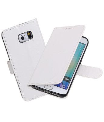 Wit Portemonnee booktype Hoesje voor Samsung Galaxy S6 Edge G925F