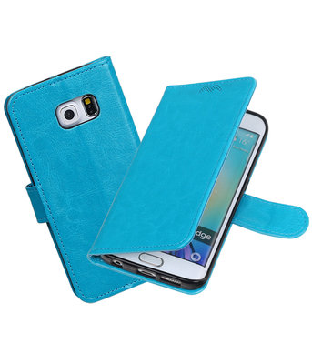 Turquoise Portemonnee booktype Hoesje voor Samsung Galaxy S6 Edge G925F