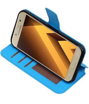 Blauw Samsung Galaxy A5 2017 TPU wallet case booktype hoesje HM Book