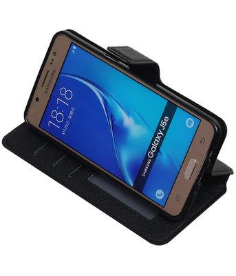 Zwart Hoesje voor Samsung Galaxy J5 2016 TPU wallet case booktype HM Book