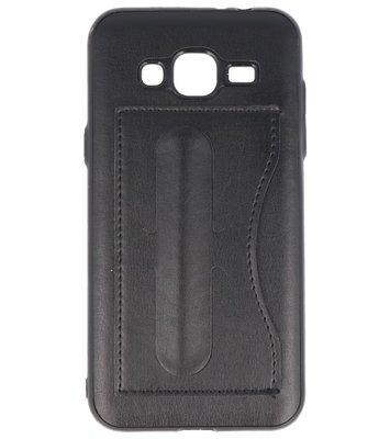 Hoesje voor Samsung Galaxy J3 2016 Stand TPU back case Zwart