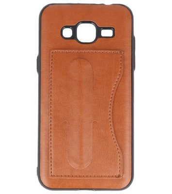 Hoesje voor Samsung Galaxy J3 2016 Stand TPU back case Bruin