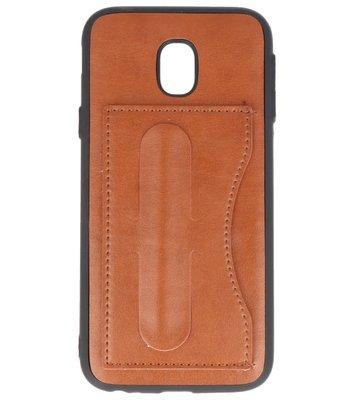 Samsung Galaxy J3 2017 Stand TPU back case hoesje Bruin