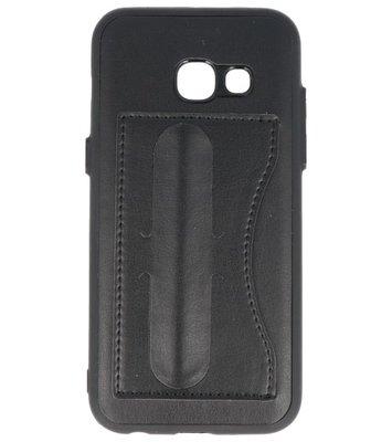 Hoesje voor Samsung Galaxy A3 2017 Stand TPU back case Zwart