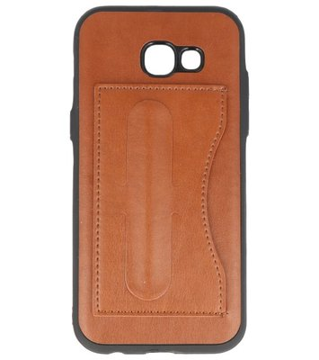 Samsung Galaxy A5 2017 Stand TPU back case hoesje Bruin