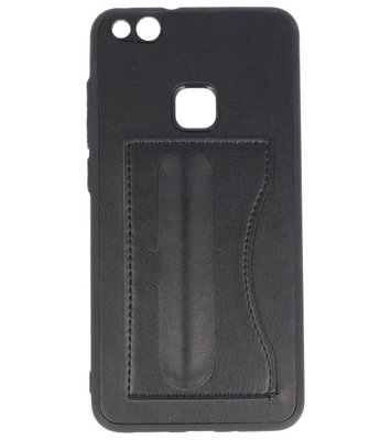 Hoesje voor Huawei P10 Lite Stand TPU back case Zwart
