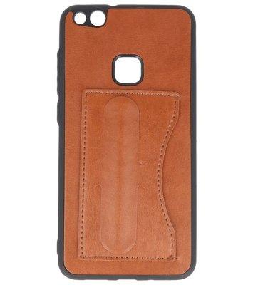 Hoesje voor Huawei P10 Lite Stand TPU back case Bruin