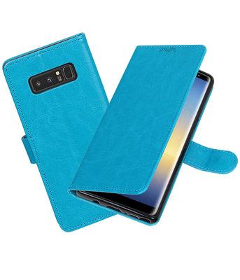 Turquoise Portemonnee booktype Hoesje voor Samsung Galaxy Note 8