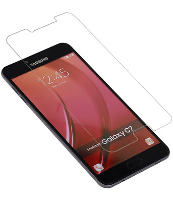 Samsung Galaxy C7 Premium Tempered Glass - Glazen Screen Protector