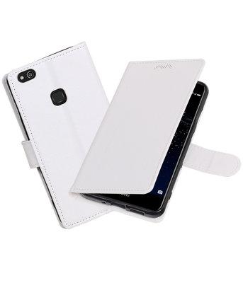 Wit Portemonnee booktype Hoesje voor Huawei P10 Lite