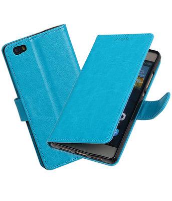 Turquoise Portemonnee booktype hoesje Huawei P8 Lite