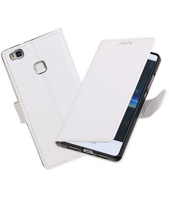 Wit Portemonnee booktype Hoesje voor Huawei P9 Lite