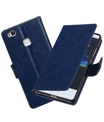 Donker Blauw Portemonnee booktype Hoesje voor Huawei P9 Lite
