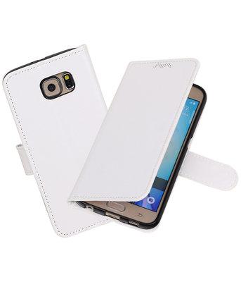 Wit Portemonnee booktype Hoesje voor Samsung Galaxy S6 G920F