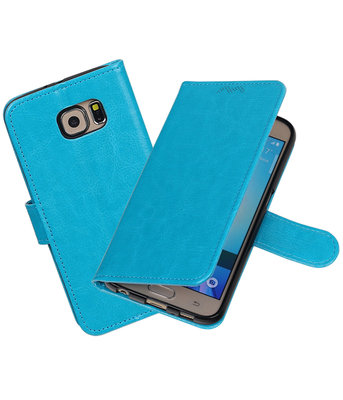 Turquoise Portemonnee booktype hoesje Samsung Galaxy S6 G920F