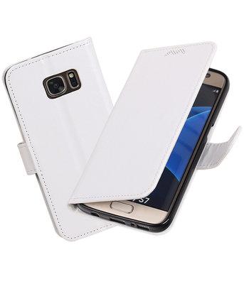 Wit Portemonnee booktype Hoesje voor Samsung Galaxy S7 G930F