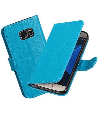 Turquoise Portemonnee booktype Hoesje voor Samsung Galaxy S7 G930F