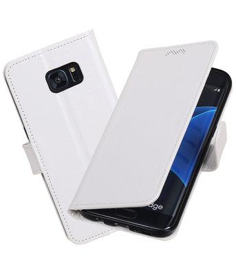 Wit Portemonnee booktype Hoesje voor Samsung Galaxy S7 Edge G935F