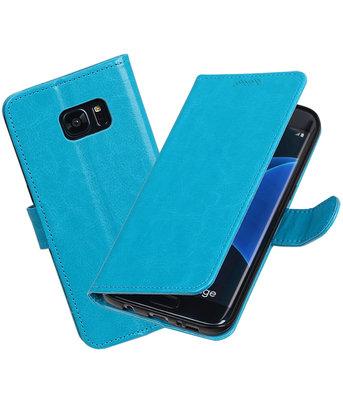 Turquoise Portemonnee booktype Hoesje voor Samsung Galaxy S7 Edge G935F