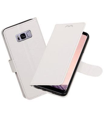 Wit Portemonnee booktype Hoesje voor Samsung Galaxy S8+ plus