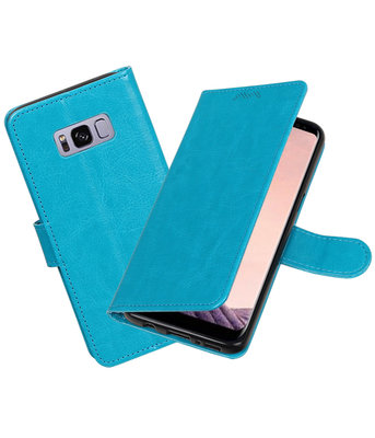 Turquoise Portemonnee booktype Hoesje voor Samsung Galaxy S8+ plus