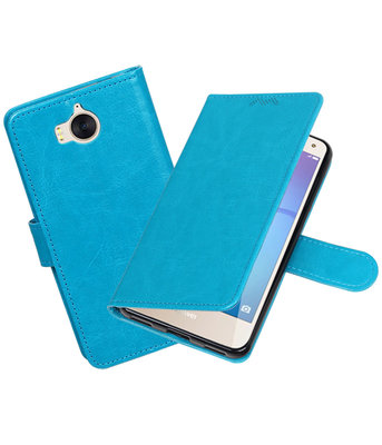 Turquoise Portemonnee booktype hoesje Huawei Y5 2017 / Y6 2017