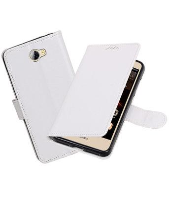 Wit Portemonnee booktype Hoesje voor Huawei Y5 II