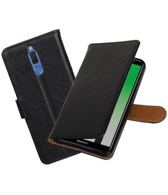 Huawei Mate 10 Lite Echt Leer Leder booktype hoesje Zwart