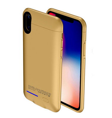 Goud smart batterij Hoesje voor Apple iPhone X