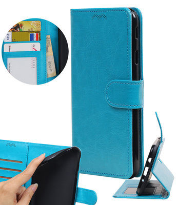 Turquoise Portemonnee booktype Hoesje voor Huawei P9 Lite mini / Y6 Pro 2017