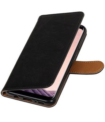 Hoesje voor LG Q8 Pull-Up booktype zwart