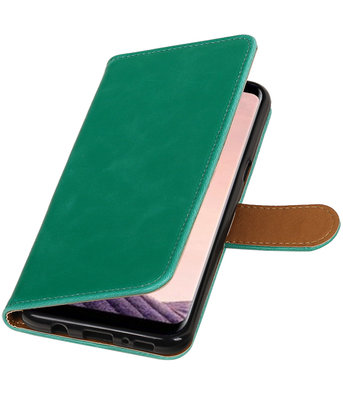 Hoesje voor LG Q8 Pull-Up booktype groen