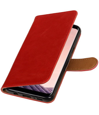 Hoesje voor LG Q8 Pull-Up booktype rood