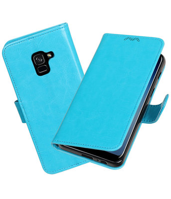 Turquoise Portemonnee booktype Hoesje voor Samsung Galaxy A8 Plus 2018