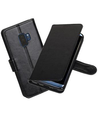 Zwart Portemonnee booktype Hoesje voor Samsung Galaxy S9