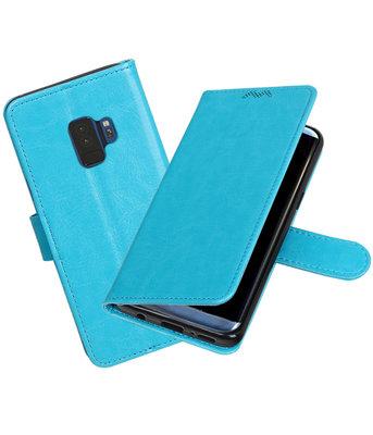 Turquoise Portemonnee booktype Hoesje voor Samsung Galaxy S9