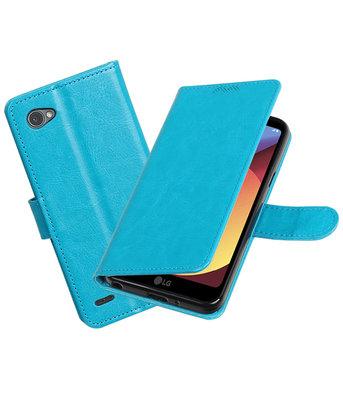 Turquoise Portemonnee booktype Hoesje voor LG Q6