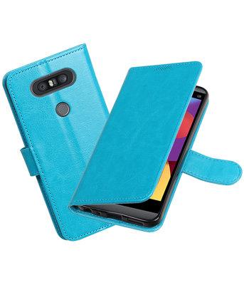 Turquoise Portemonnee booktype Hoesje voor LG Q8