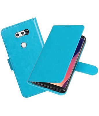 Turquoise Portemonnee booktype Hoesje voor LG V30
