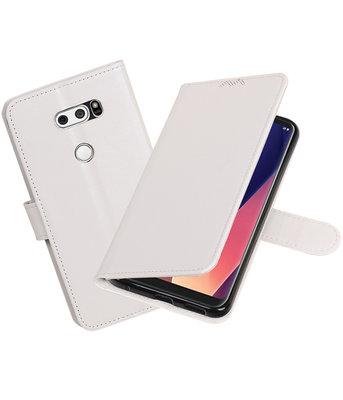 Wit Portemonnee booktype Hoesje voor LG V30