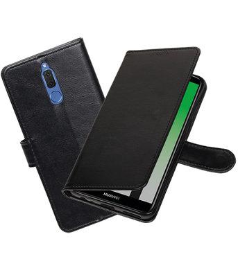 Zwart Portemonnee booktype Hoesje voor Huawei Mate 10 Lite