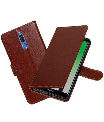 Bruin Portemonnee booktype Hoesje voor Huawei Mate 10 Lite