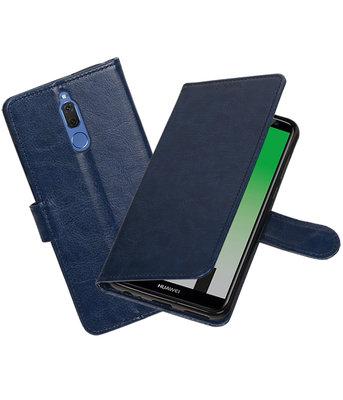 Donker Blauw Portemonnee booktype Hoesje voor Huawei Mate 10 Lite