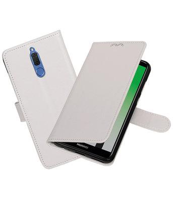 Wit Portemonnee booktype Hoesje voor Huawei Mate 10 Lite