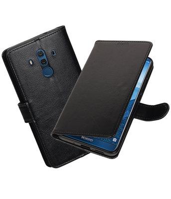 Zwart Portemonnee booktype Hoesje voor Huawei Mate 10 Pro