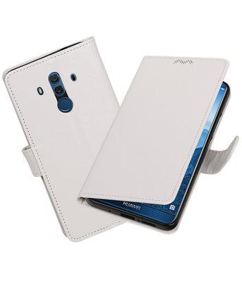 Wit Portemonnee booktype Hoesje voor Huawei Mate 10 Pro